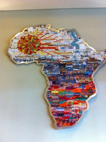 African art in Moses Mabhida Stadium