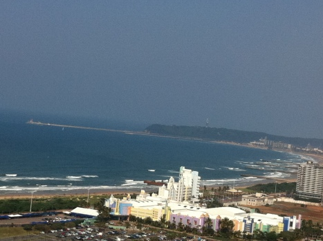View of Suncoast Casino from the top of Moses Mabhida Stadium